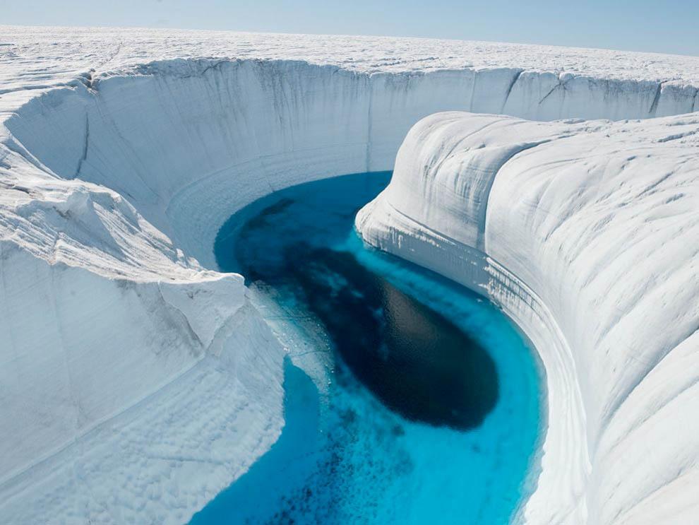 Ice Canyon um dos lugares mais bonitos no gelo que se pode visitar