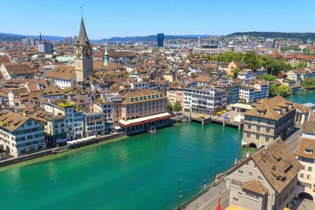 Preço médio do aluguel em Zurique - Suiça